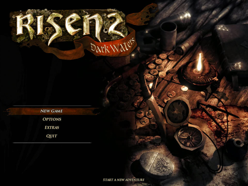 Risen 2: Dark Waters Windows Title screen and main menu