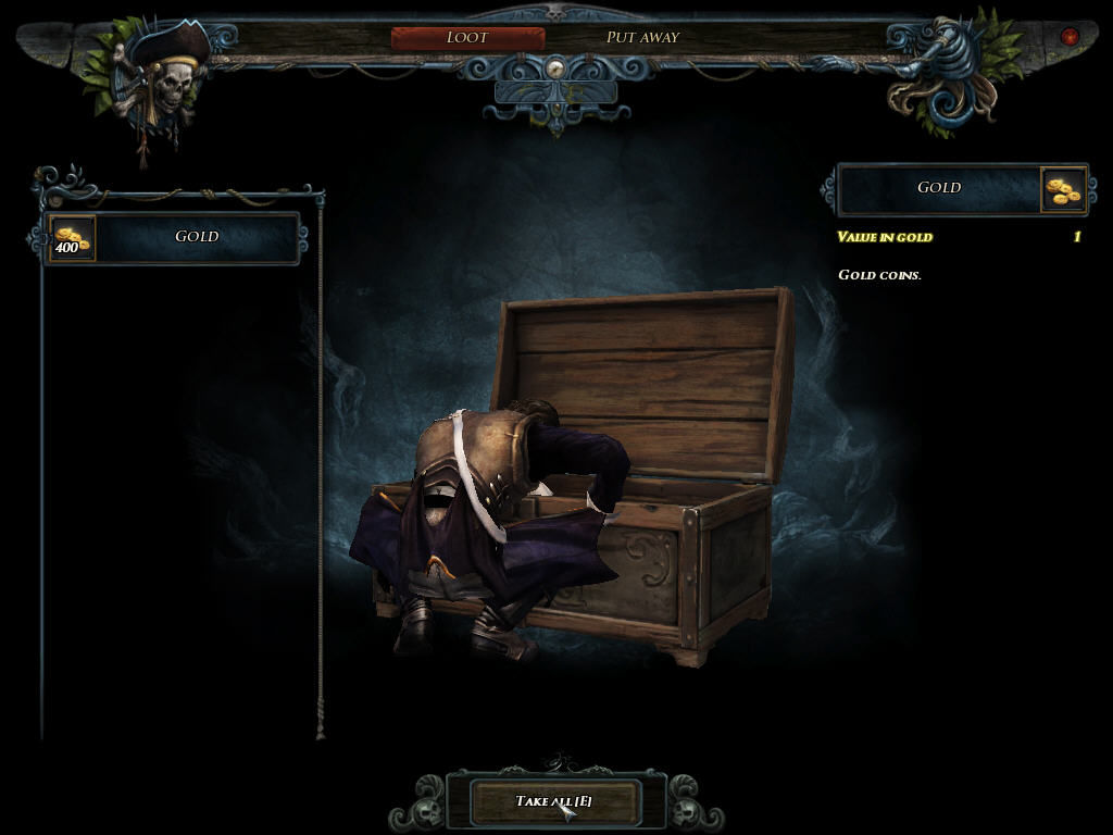 Risen 2: Dark Waters Windows Taking items out of a chest