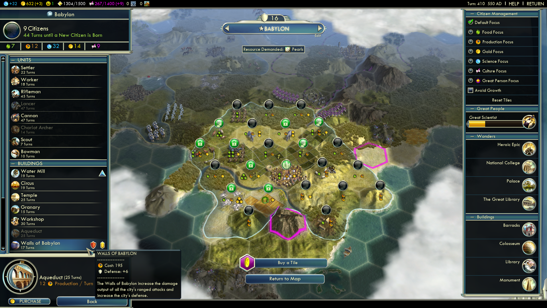 Sid Meier's Civilization V: Babylon (Nebuchadnezzar II) Windows Building the Walls of Babylon