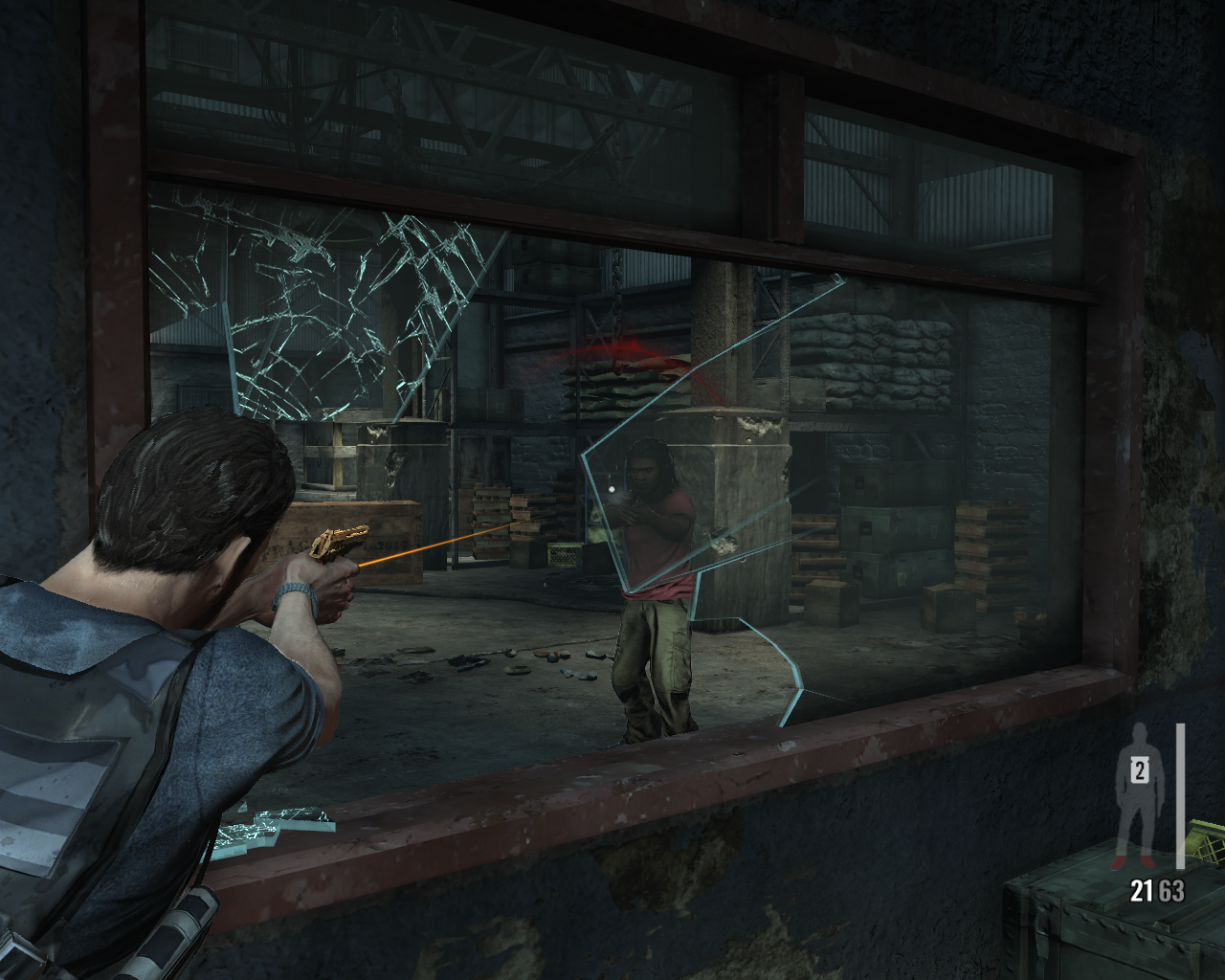 Max Payne 3 Windows Shooting through a window