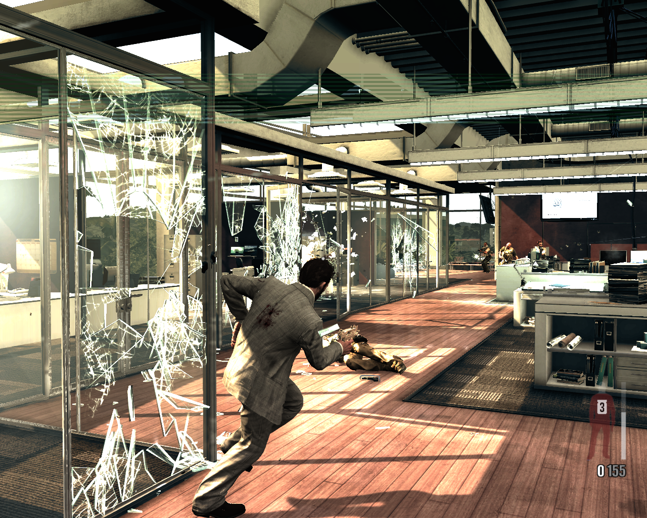 Max Payne 3 Windows A gunfight in an office with glass walls - spectacular!
