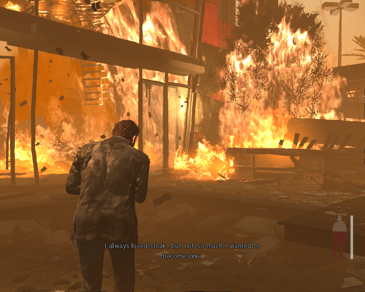 Max Payne 3 Windows Max dosen't want to become steak.