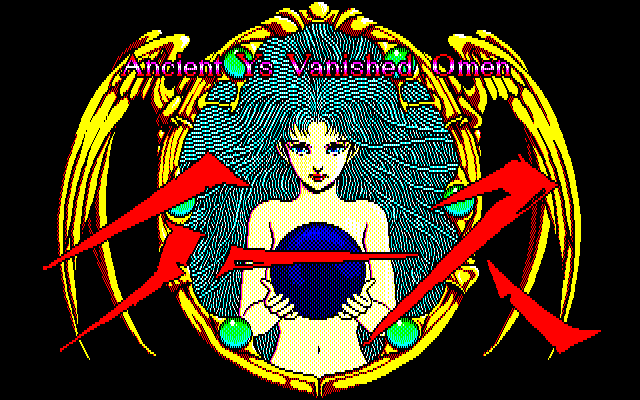 Ys: The Vanished Omens FM-7 Title screen