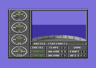 Sub Battle Simulator Commodore 64 Battle stations.