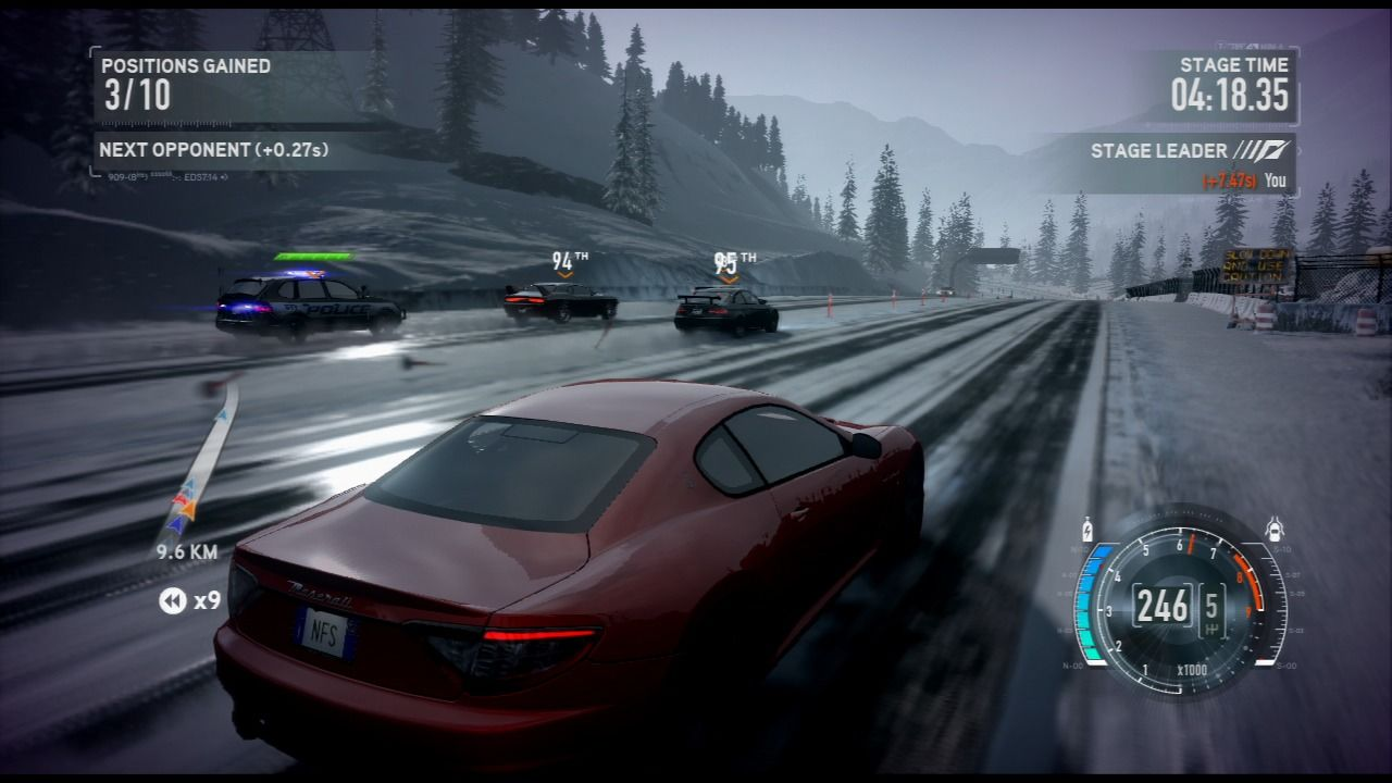 Need for Speed: The Run PlayStation 3 It is a rare phenomenon that cops chase anyone else but me, must be a bug :P