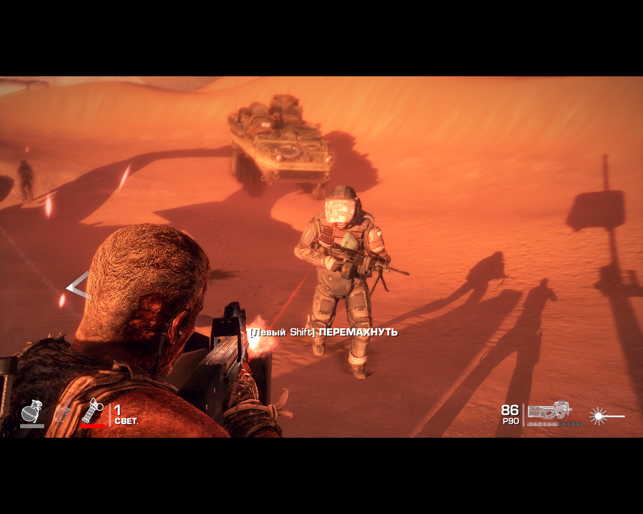 Spec Ops: The Line Windows A heavy armored enemy. If you see him this close you're pretty much... well, dead.