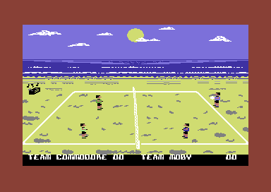 Bump, Set, Spike! Doubles Volleyball Commodore 64 On the beach