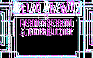 Weird Dreams DOS Title screen (CGA)