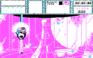 Weird Dreams DOS First Level : Candyfloss death (CGA)