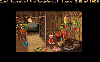 Lost Secret of the Rainforest DOS The shaman's hut