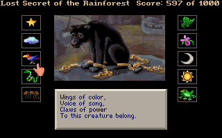 Lost Secret of the Rainforest DOS The Black Jaguar's riddles