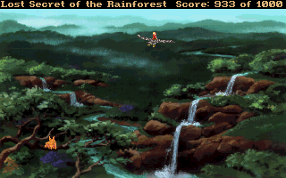 Lost Secret of the Rainforest DOS Empress Eagle flies off with Adam to find his father