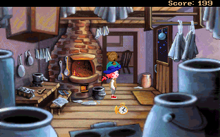 Pepper's Adventures in Time DOS Teleported to Ben Franklin's youth  - Josiah Franklin's workshop