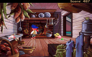 Pepper's Adventures in Time DOS Pepper inside Penn Mansion kitchen