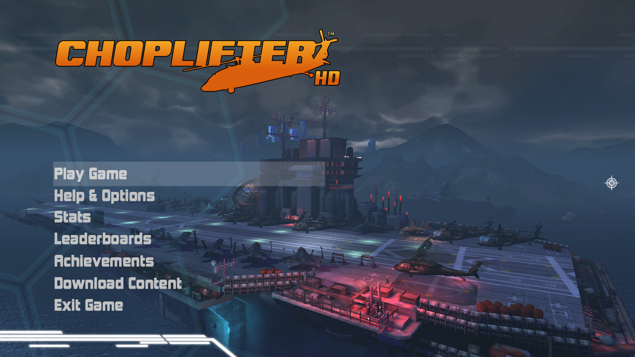 Choplifter HD Windows Main menu