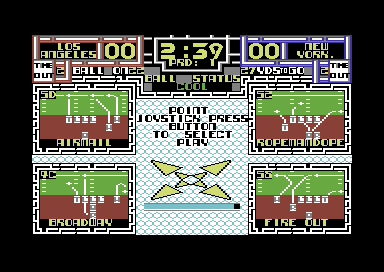 Cyberball Commodore 64 Pick the play.