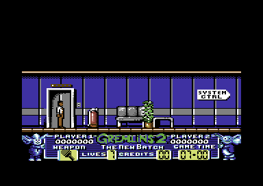 Gremlins 2: The New Batch Commodore 64 Start of the game.