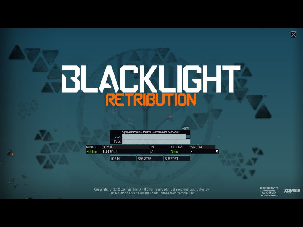 Blacklight: Retribution Windows Login Screen