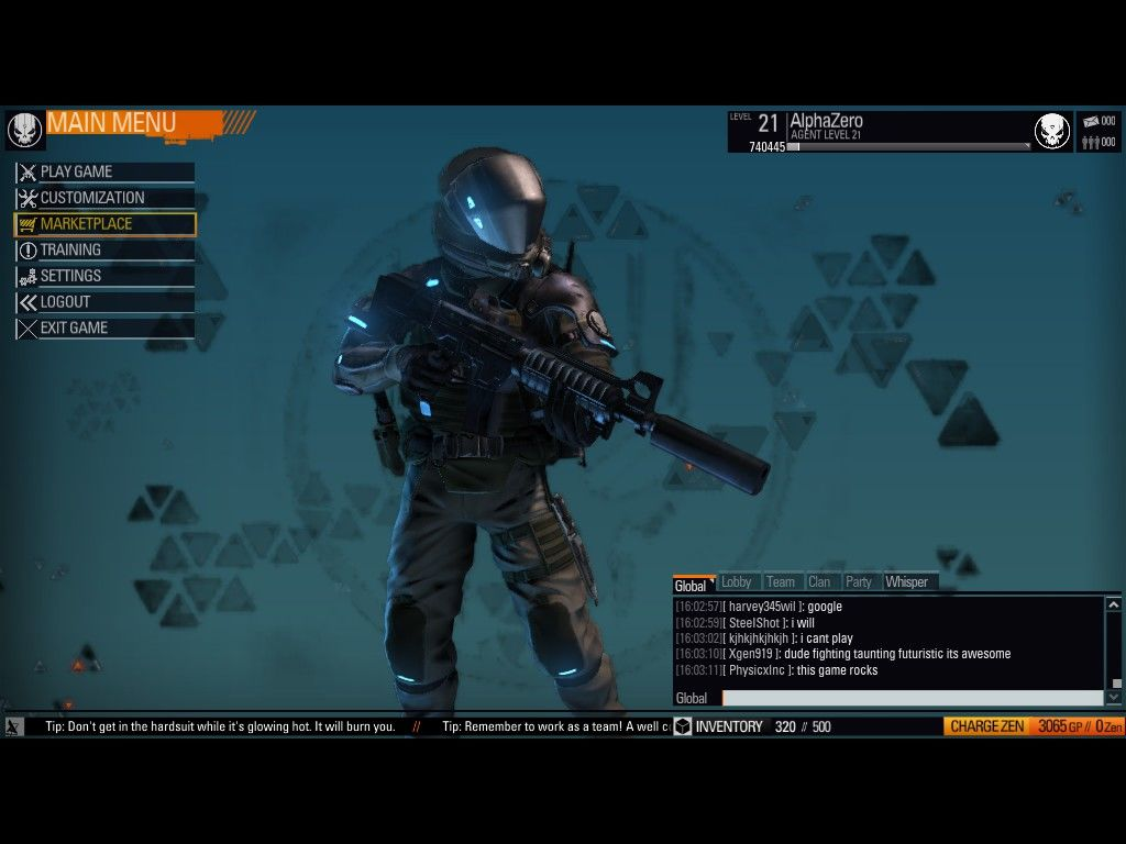 Blacklight: Retribution Windows Main Menu
