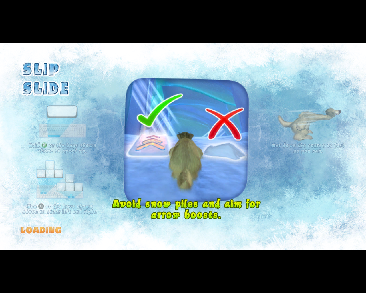 Ice Age: Continental Drift - Arctic Games Windows Each event shows some explanation on a loading screen