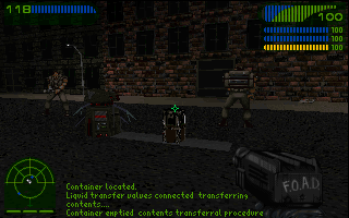 Last Rites DOS This mission has you escorting this little robot.
