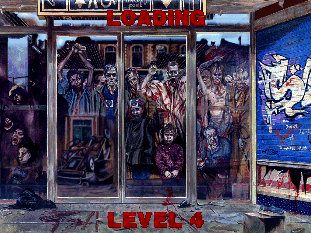 Last Rites DOS Some excellent loading screen art between levels.
