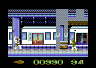 International Ninja Rabbits Commodore 64 Catch the tube train.