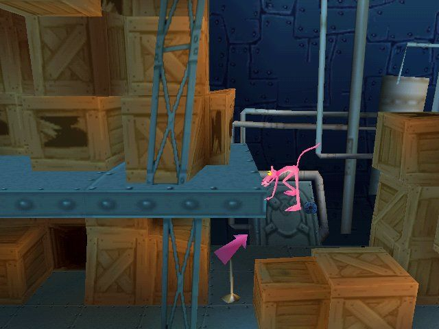 Pink Panther: Pinkadelic Pursuit Windows Double-jump helps Pink reach higher height. It can be useful for high platform which can't be reached by normal jump