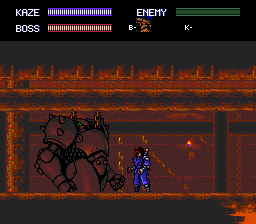 Kaze Kiri TurboGrafx CD One of the easiest bosses - he only looks tough