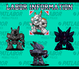 Digital Comic Patlabor: Chapter of Griffon TurboGrafx CD Robot database