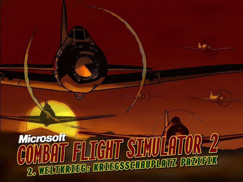 Microsoft Combat Flight Simulator 2: WW II Pacific Theater Windows Title screen