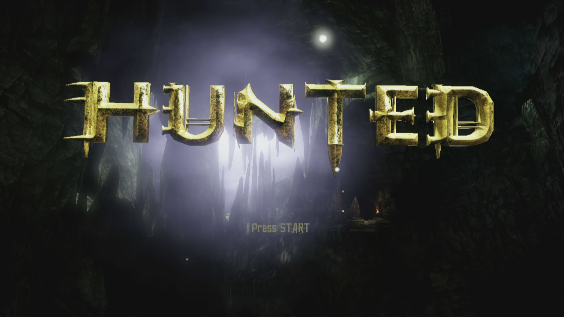 Hunted: The Demon's Forge Xbox 360 Title Screen