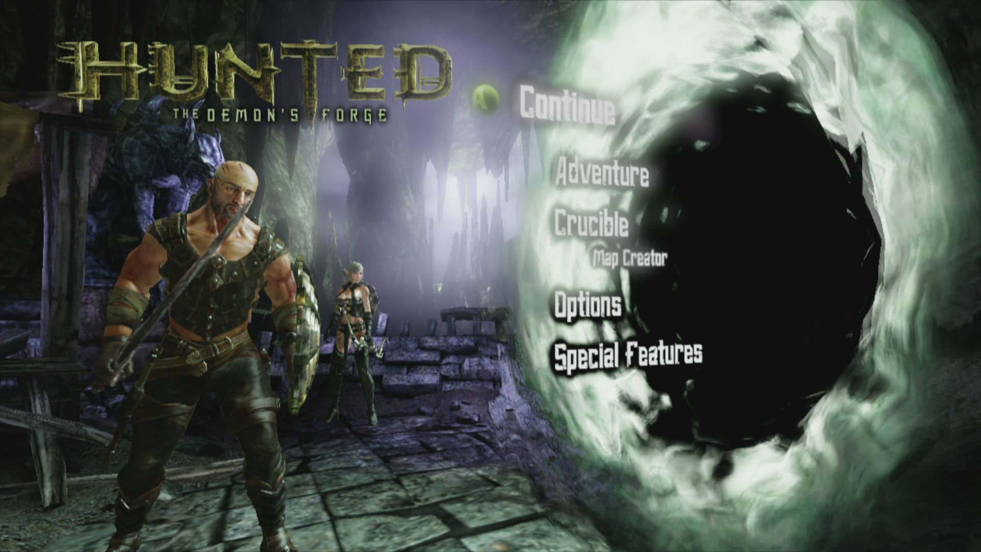 Hunted: The Demon's Forge Xbox 360 Selection Screen