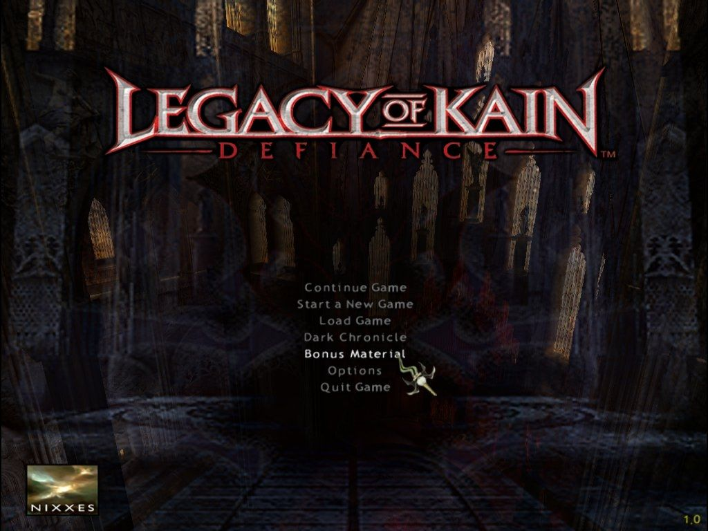 Legacy of Kain: Defiance Windows Main Menu
