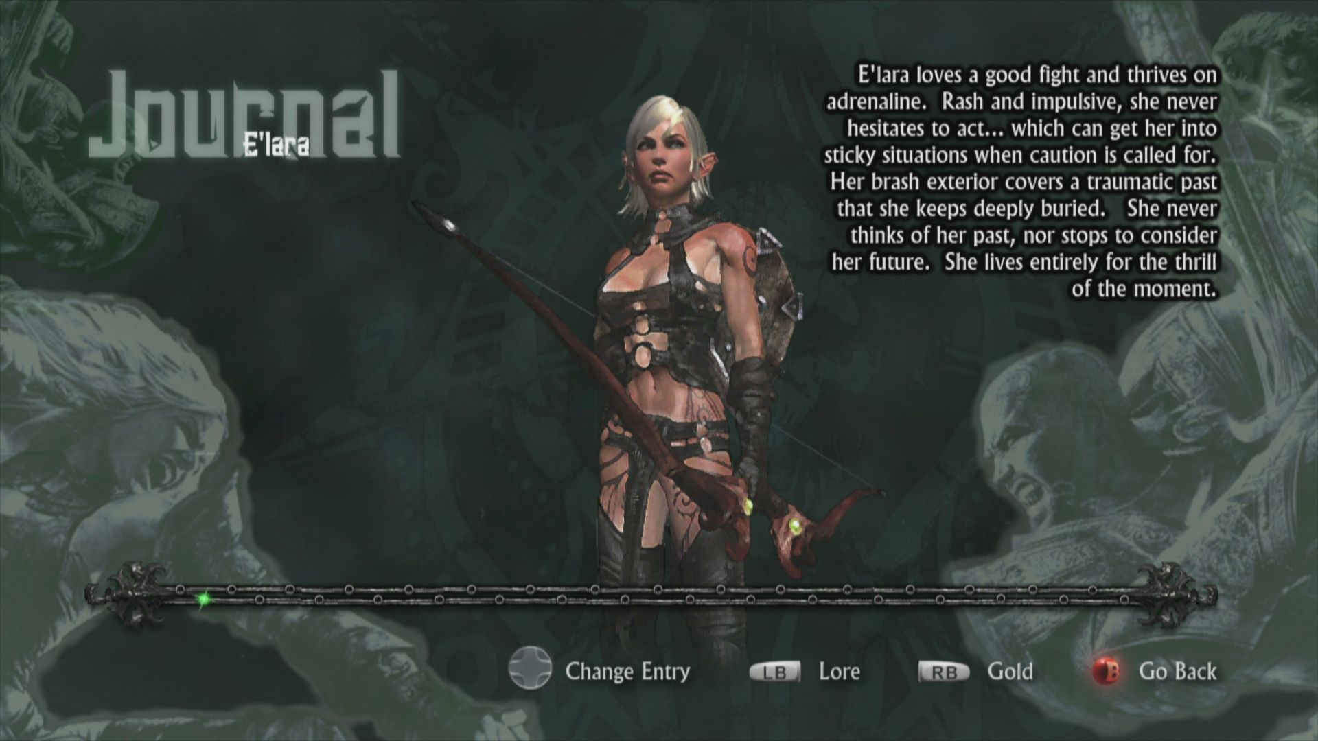 Hunted: The Demon's Forge Xbox 360 E'lara information