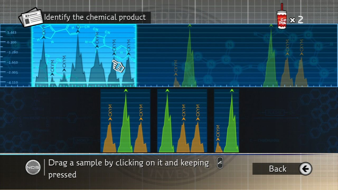 NCIS PlayStation 3 Identifying the chemical product.