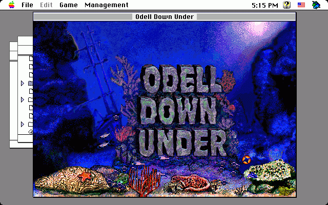 Odell Down Under Macintosh Title screen
