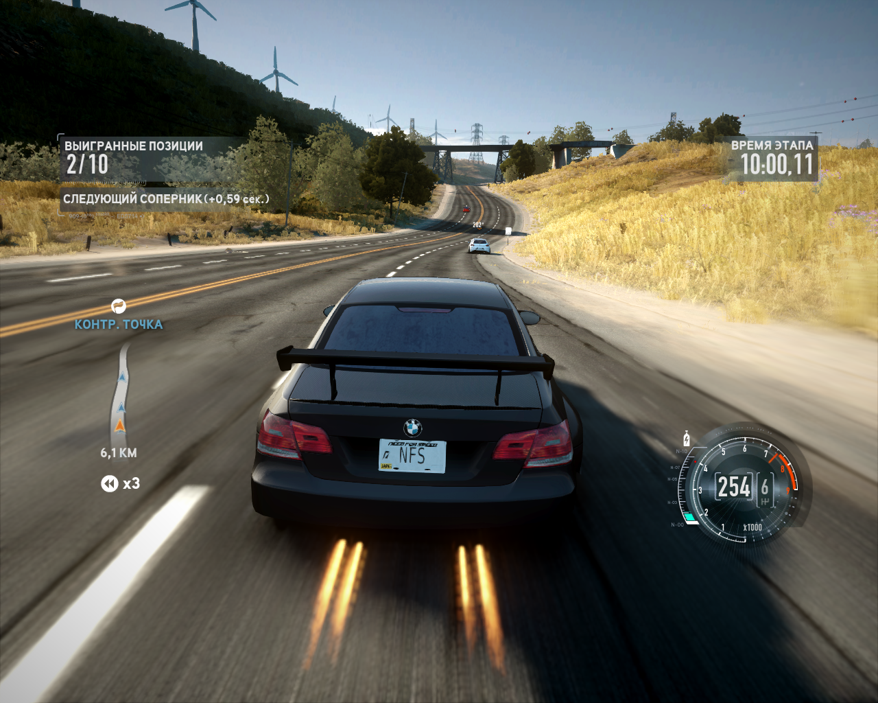 Need for Speed: The Run Windows Using nitro at the countryside