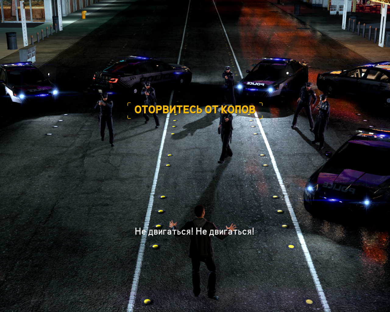 Need for Speed: The Run Windows Surrounded by police