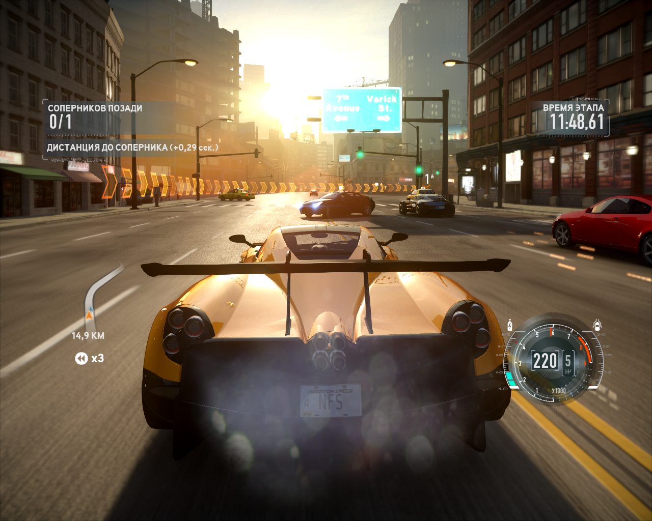 Need for Speed: The Run Windows Racing through a busy N.Y. street