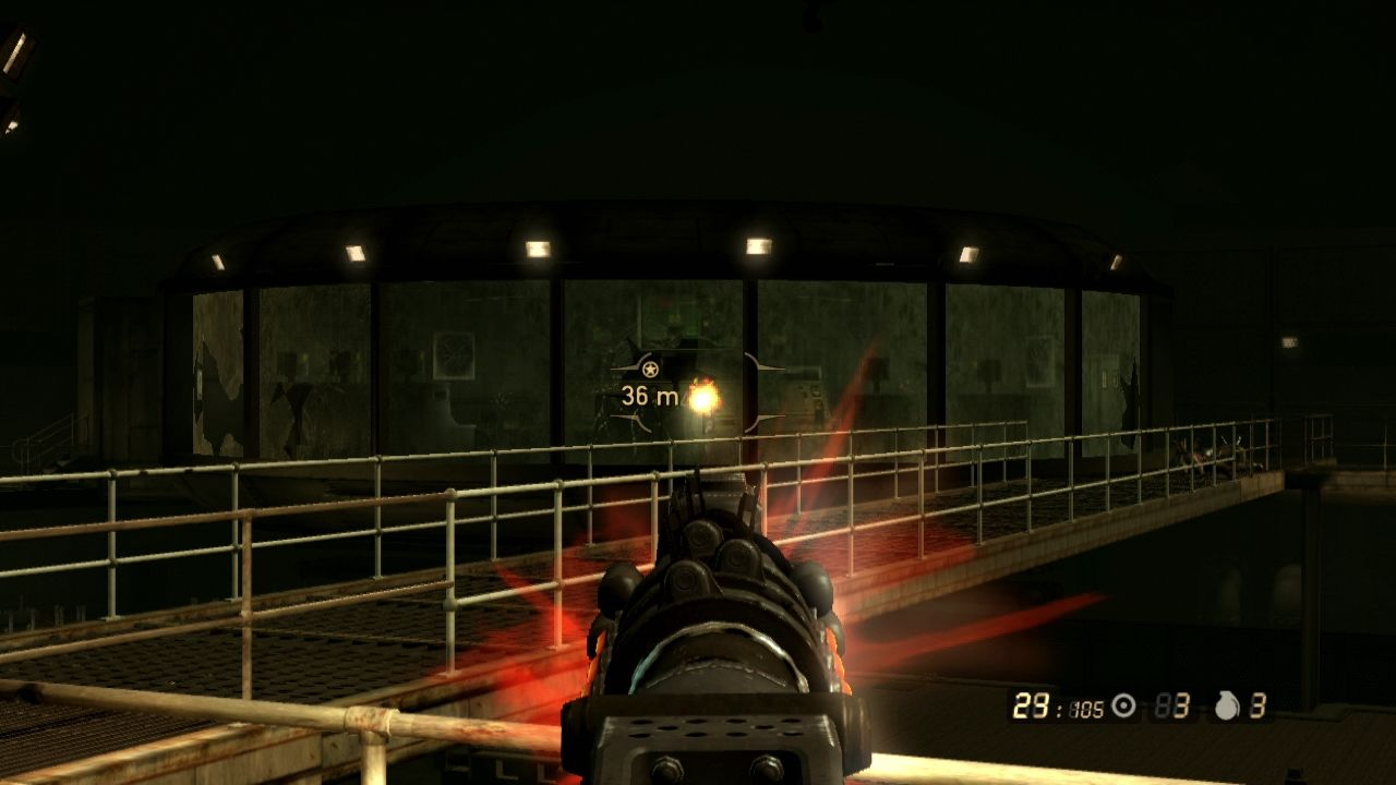 Resistance 2 PlayStation 3 For long distance shootout it's better to choose a gun with lesser scattering.