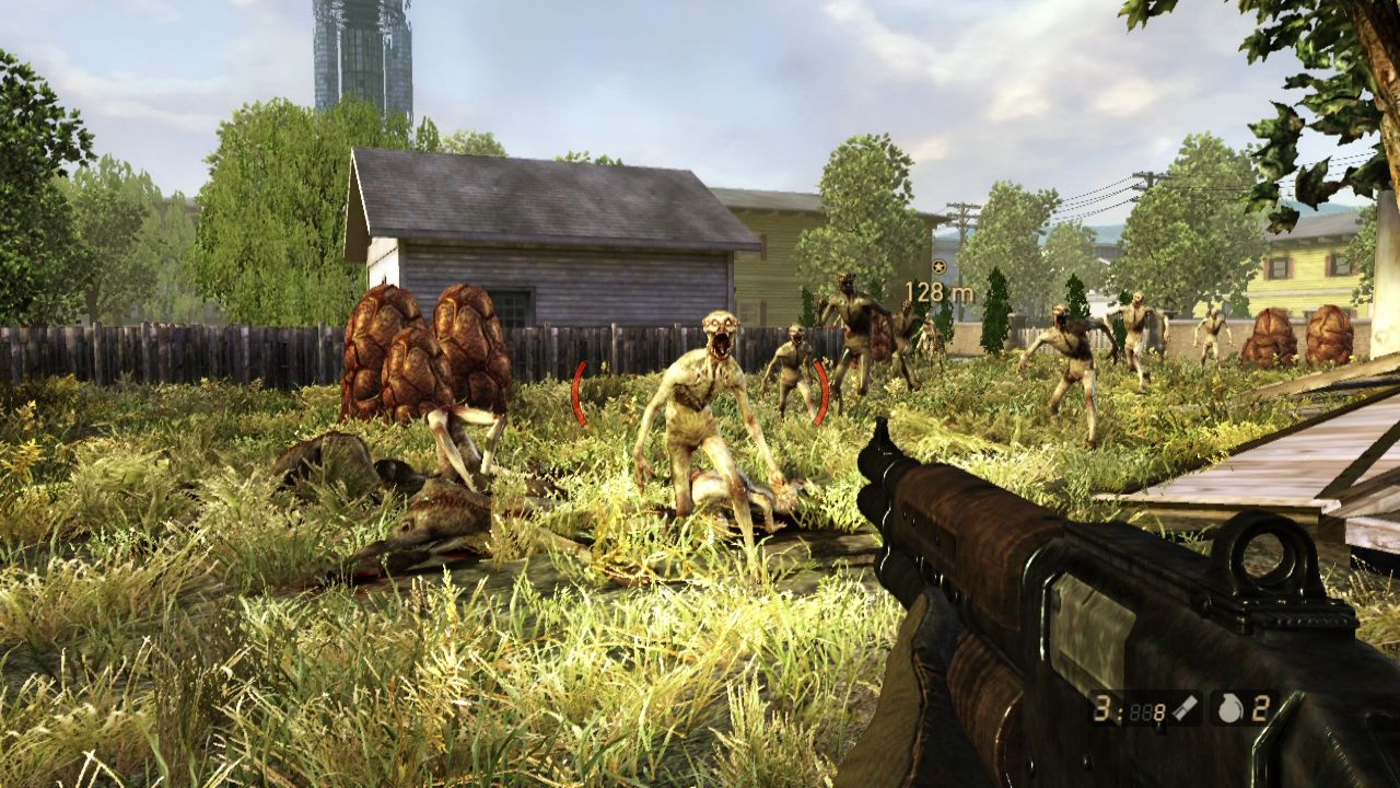 "Resistance 2 PlayStation 3 Running backwards from the horde, you can mistake the game for <moby game=""Serious Sam"">Serious Sam</moby> series."