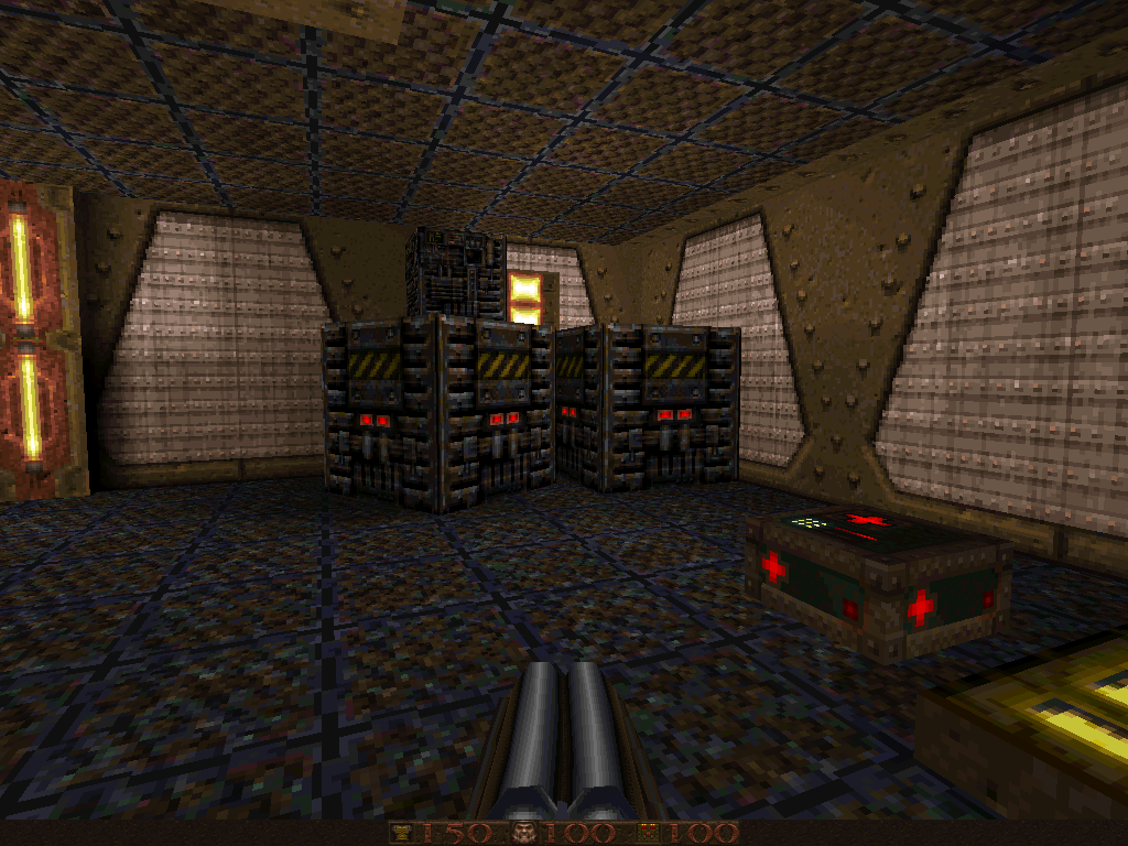 Abyss of Pandemonium DOS Even DM maps have crates :)