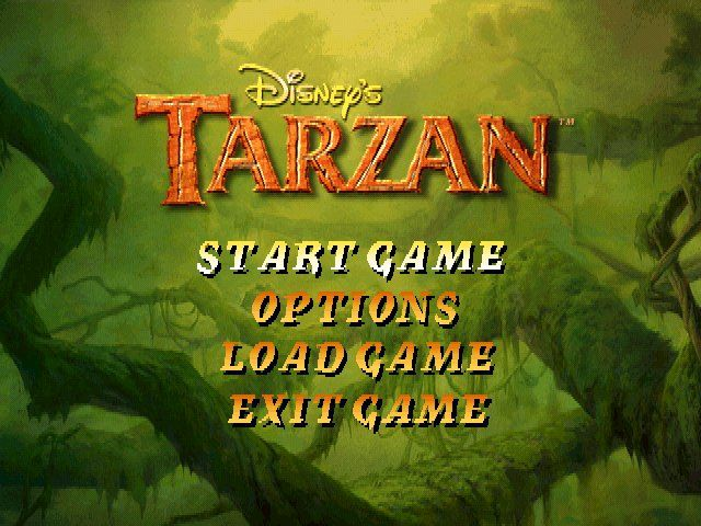 Disney's Tarzan Windows Title/Menu Screen