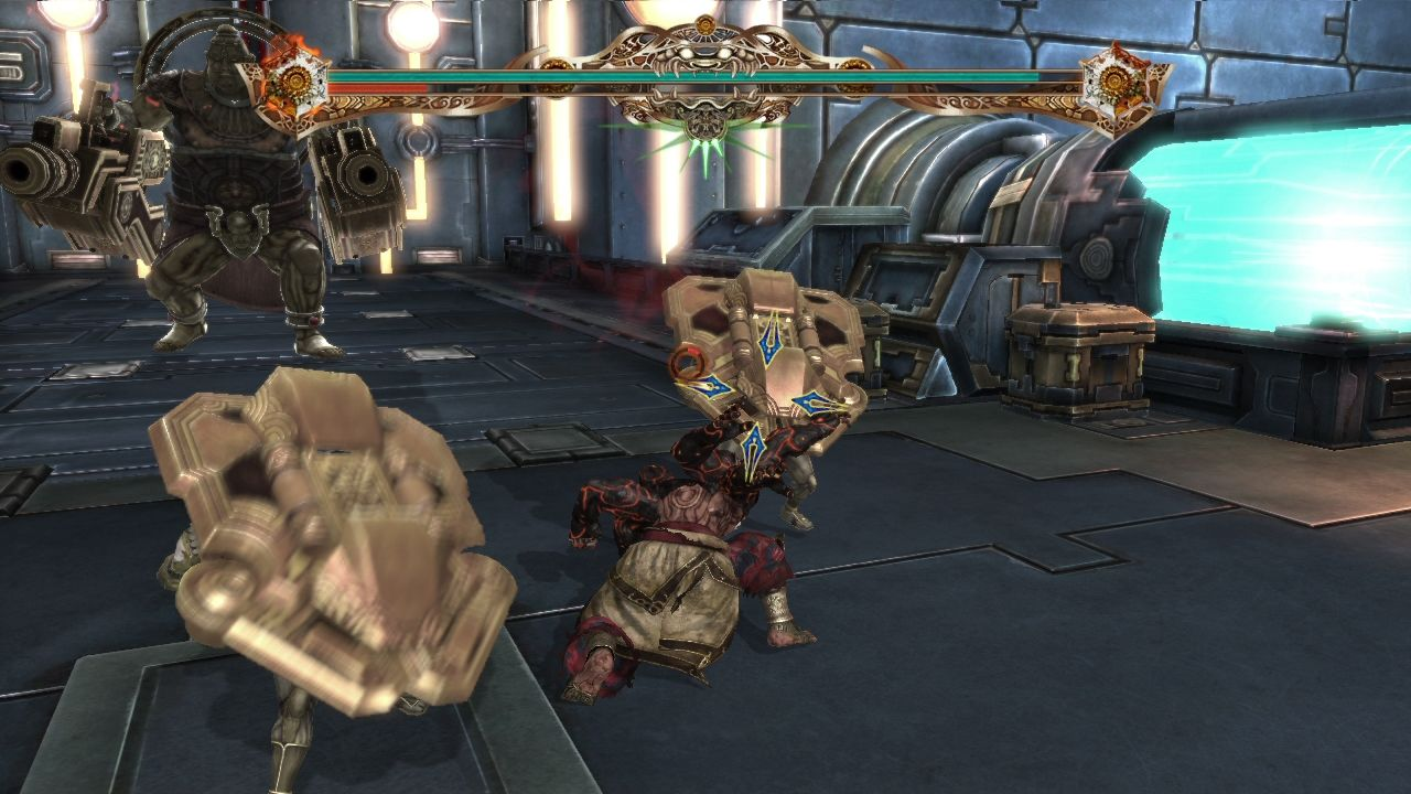 Asura's Wrath PlayStation 3 It's better to get behind than rush straight into shielded enemies.