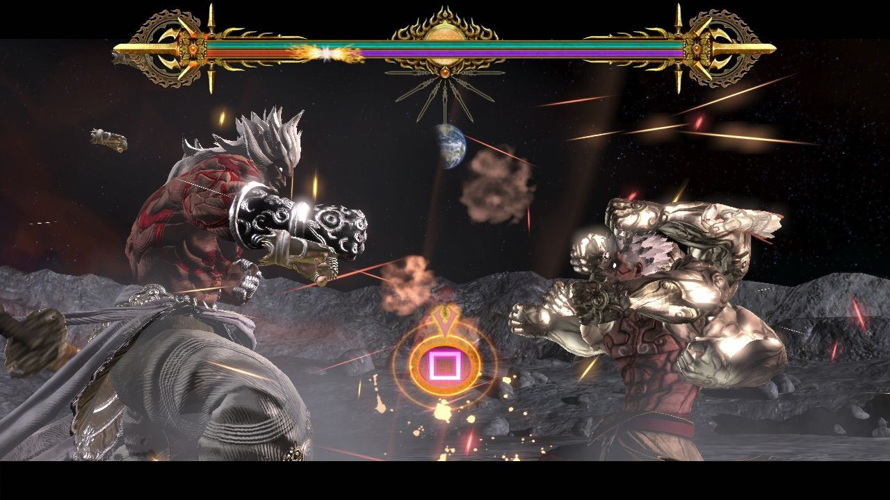 Asura's Wrath PlayStation 3 Button smashing contest.