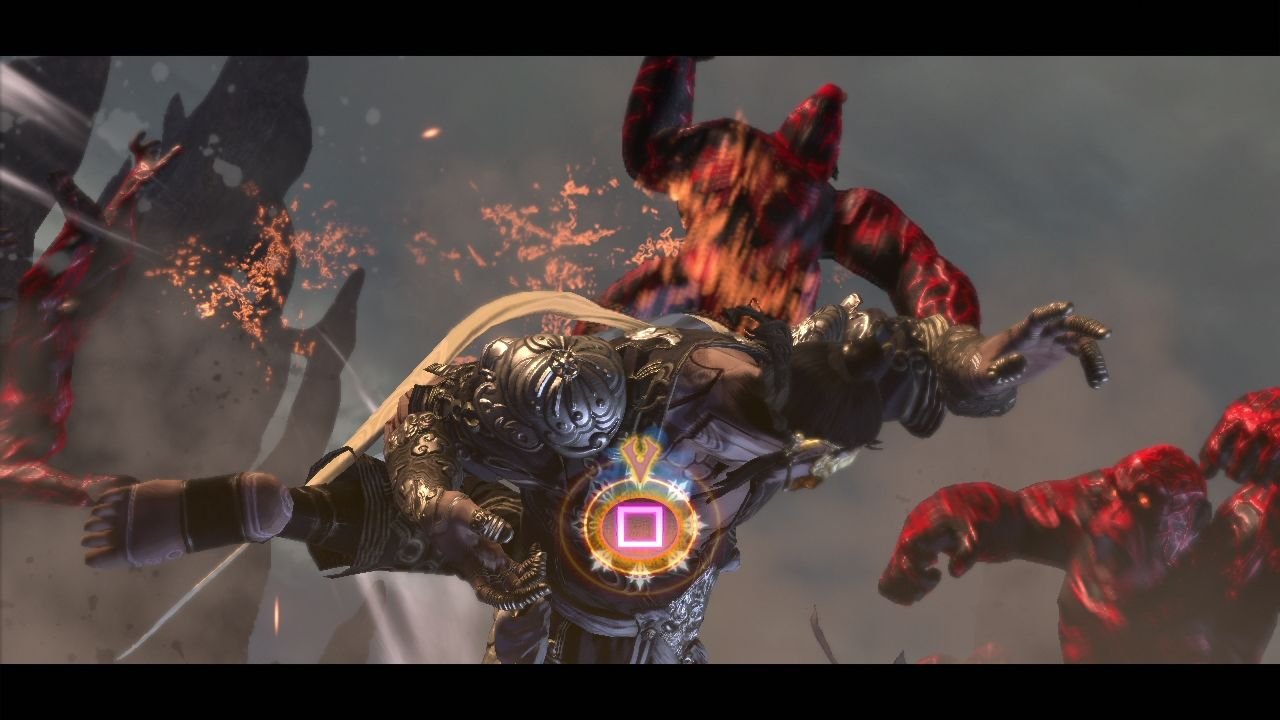Asura's Wrath PlayStation 3 Another button smashing action sequence.