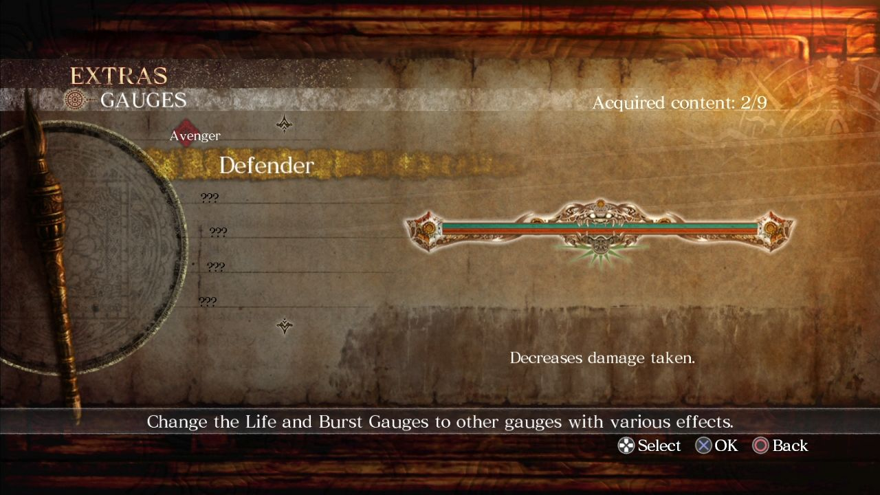 Asura's Wrath PlayStation 3 Various gauges actually provide useful bonuses.