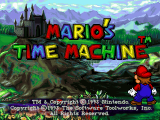 Mario's Time Machine DOS Title screen