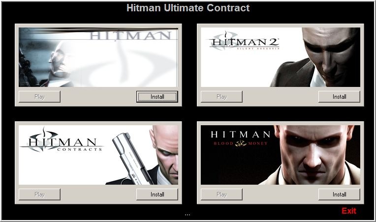 Hitman: Ultimate Contract Windows Installer Menu